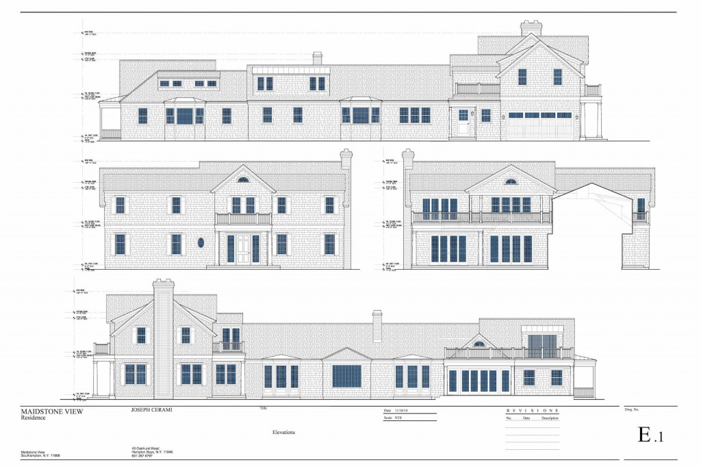 Maidstone View Elevations